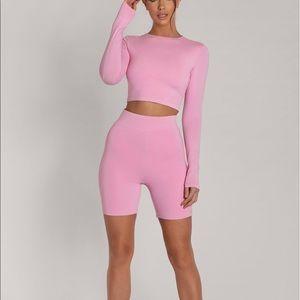 Pink buttery soft bike shorts